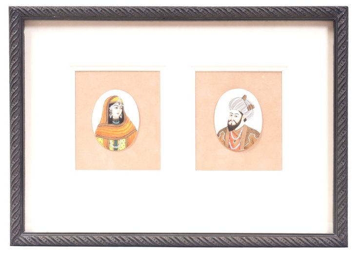 Framed Indian Miniature Portraits
