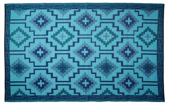 Lhasa Plastic Beach Mat, Blue