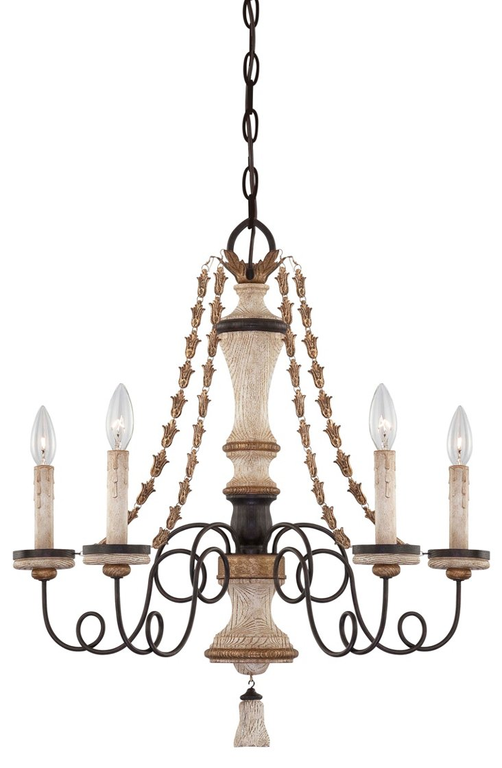 Provence 5-Light Chandelier,  Patina