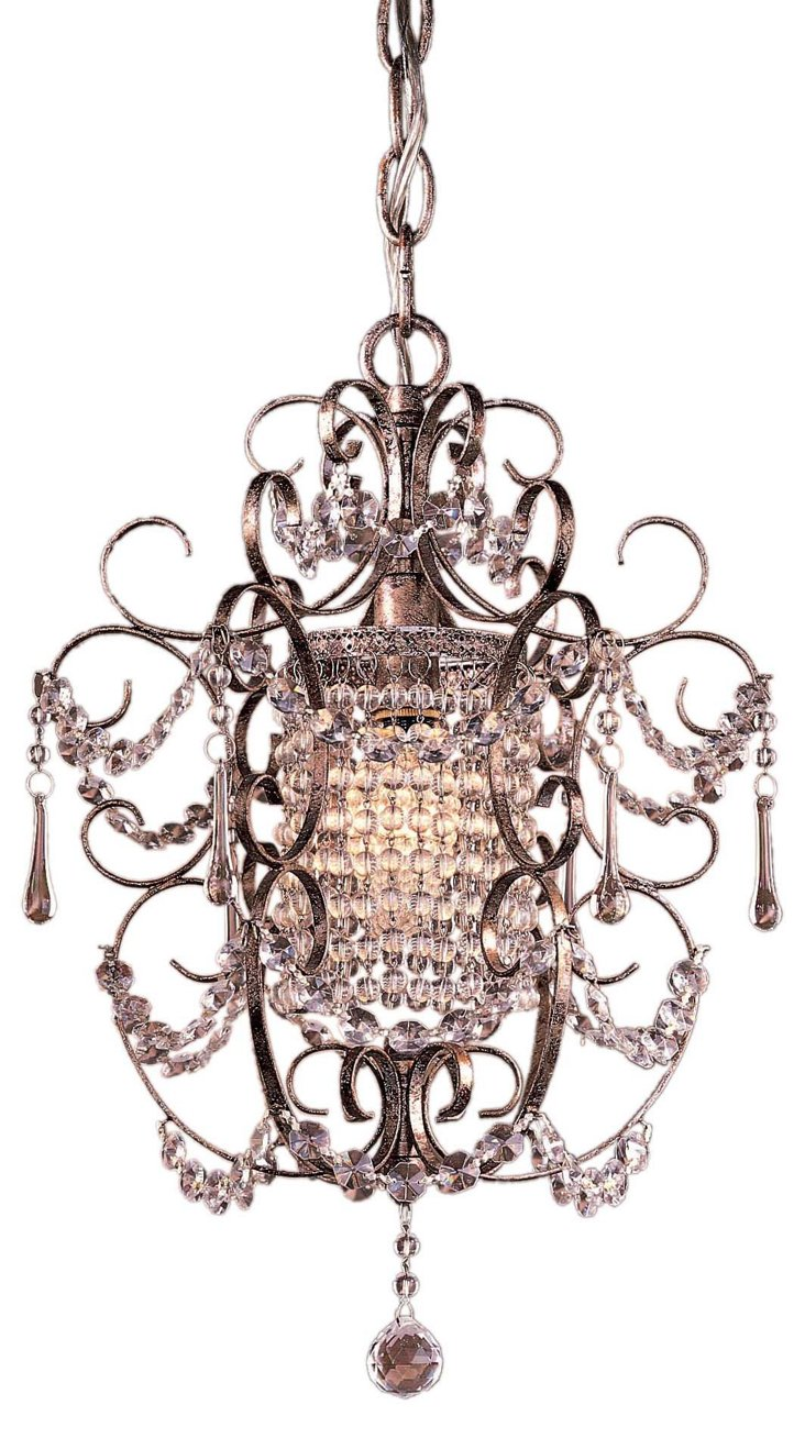 Eden 1-Light Chandelier, Silver