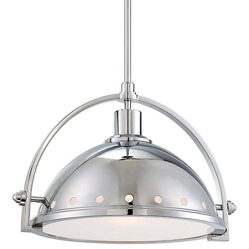 Sorrel 1-Light Pendant, Chrome