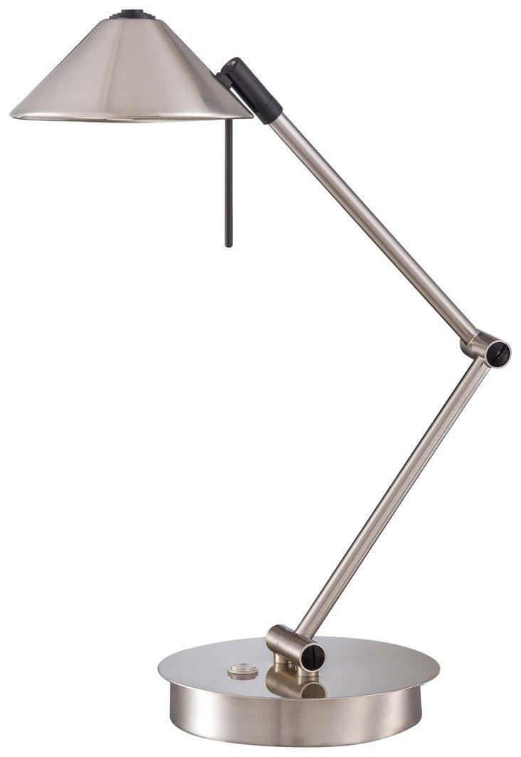 Redding Table Lamp, Brushed Nickel