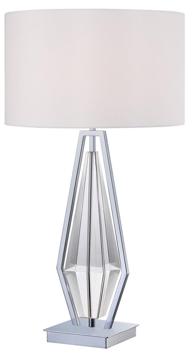 Johan Table Lamp, Chrome