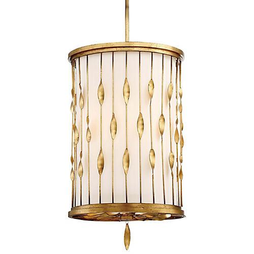 Olivetas 3-Light Tall Pendant, Terrace Gold