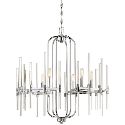Pillar 5-Light Chandelier, Chrome