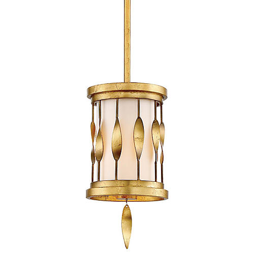 Olivetas Mini Pendant, Terrace Gold