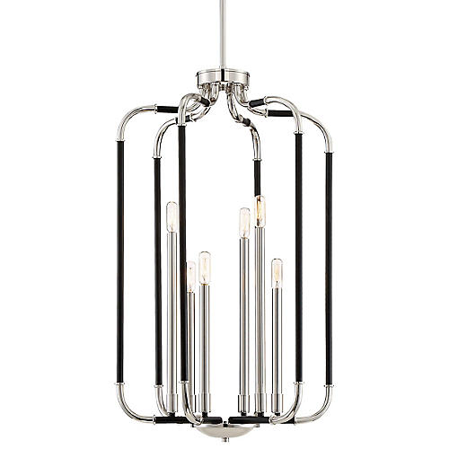 Liege Tall Pendant, Black/Nickel
