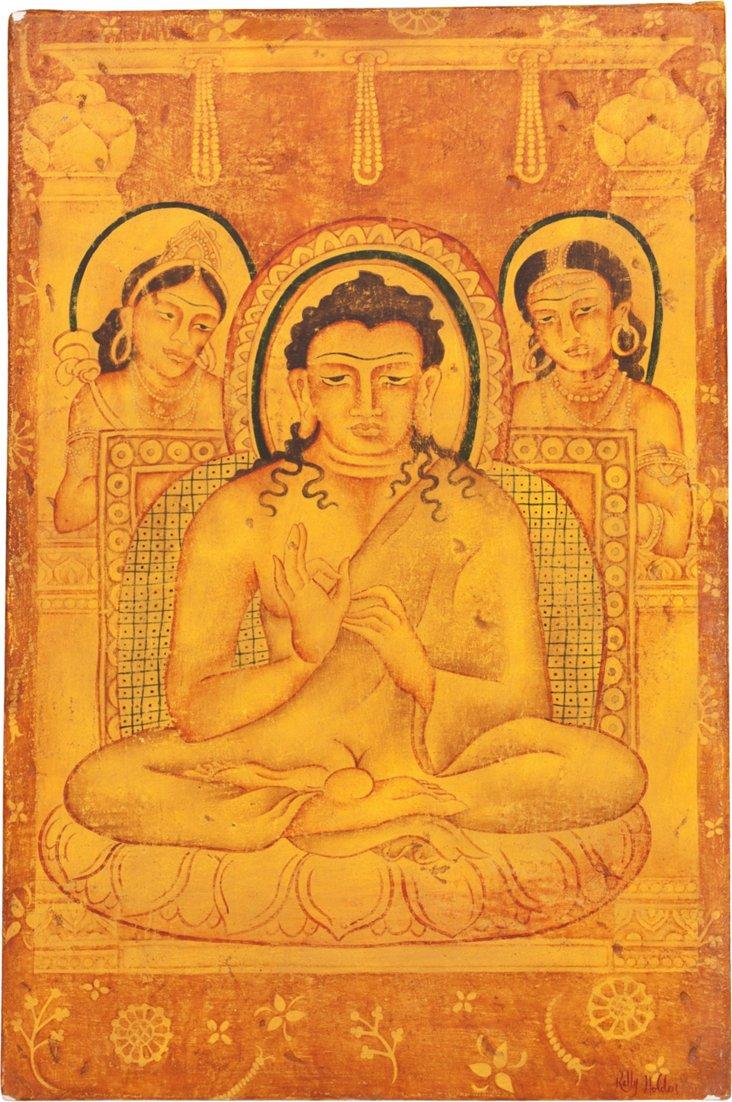 Indian Painted Art Piece III