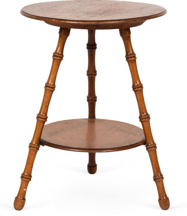 Antique Faux-Bamboo Side Table