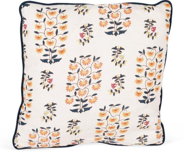 MLB Sultans Garden Pillow, Indigo