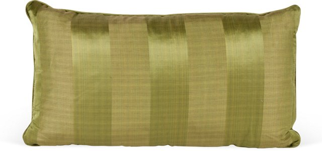 Schumacher Silk Striped Pillow