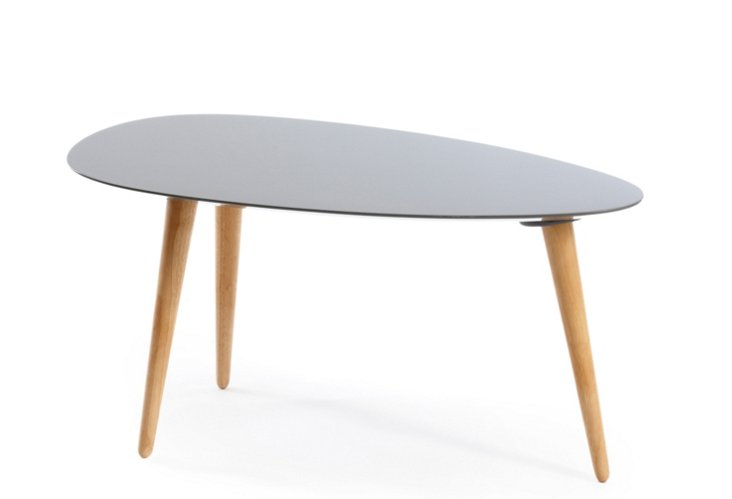 Small Egg Table, Light Gray