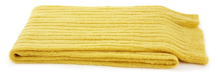 Light Mohair Throw, Sulphur