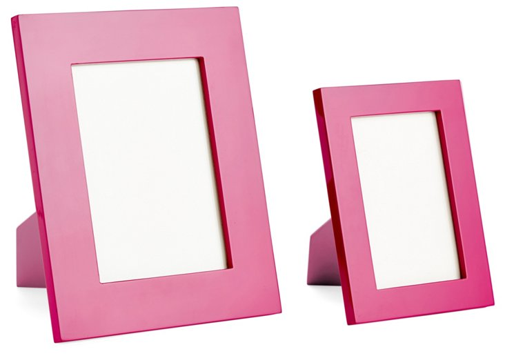 Lacquer Frames, Asst. of 2, Bright Pink