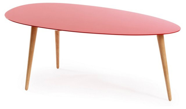 Small Egg Table, Red