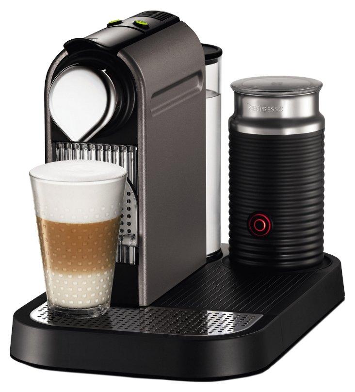 Titan Espresso Maker w/ Frother, Black