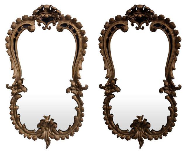 Vintage Mirrors, Pair