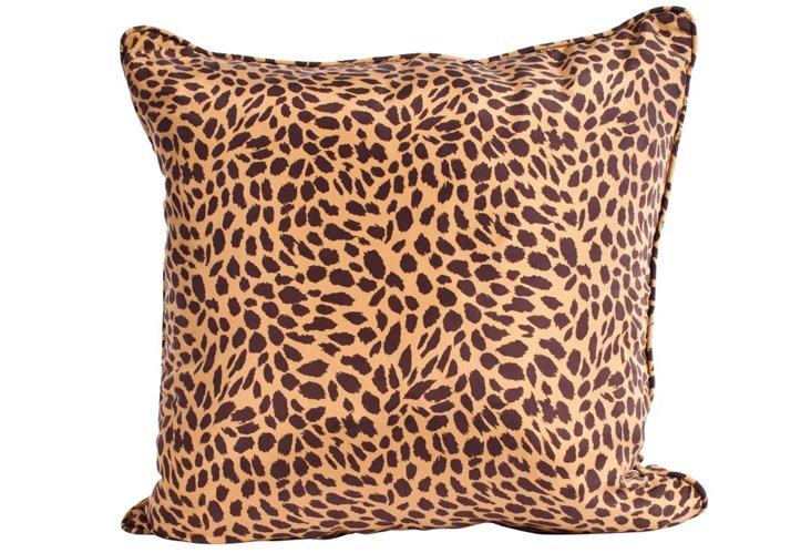 Silk Leopard Pillow