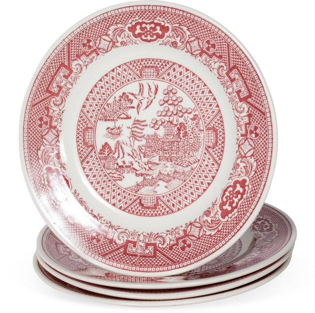 English Scenic Plates, Set of 4