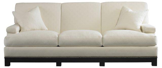 """Salon 88"""" Sofa, White"""