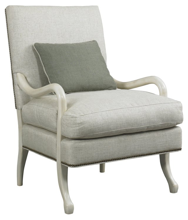 Hadley Accent Chair, Beige-Ivory