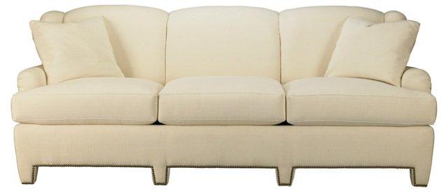 """Winged 89"""" Sofa, Cream"""