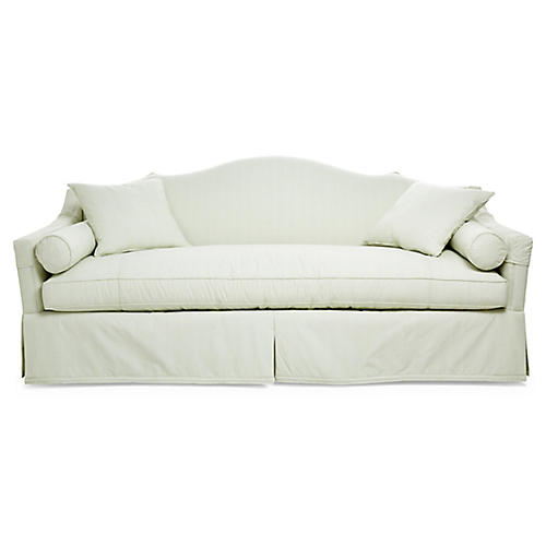 "Cathedral 87"" Sofa, Pale Green"