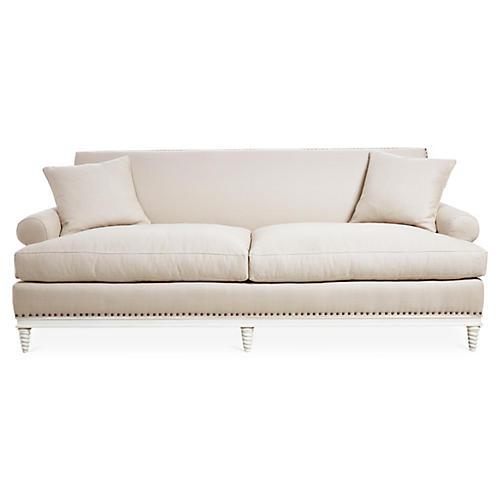 """Paris 91"""" Sofa, Natural Linen"""