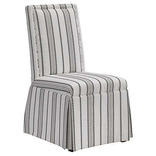 Pablo Side Chair, White/Black