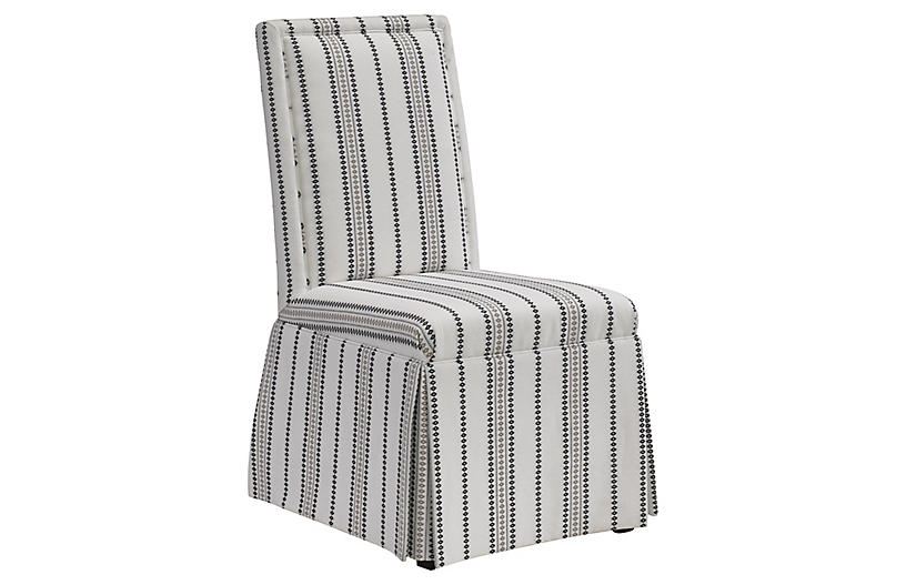 Pablo Side Chair, White/Black