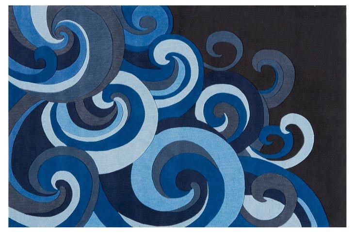 Waves Rug, Blue