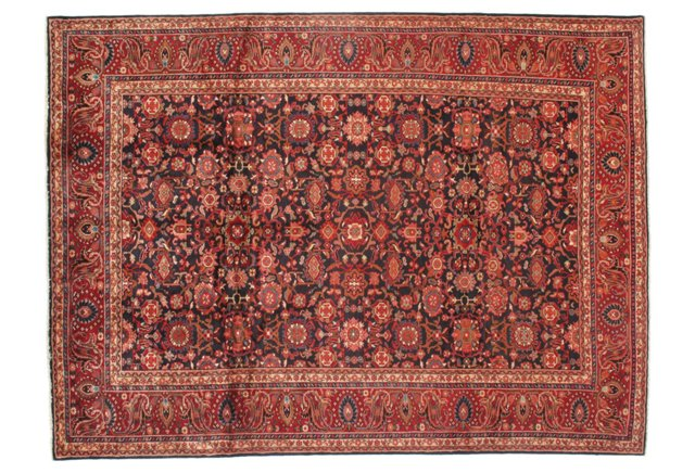 "8'10""x11'9"" Fine Persian Malayer Rug, Red"