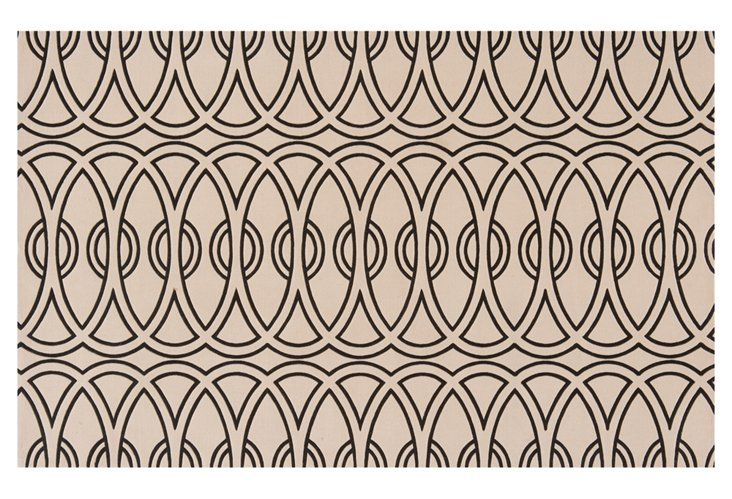 """2'6""""x8' Elements Runner, Taupe/Black"""