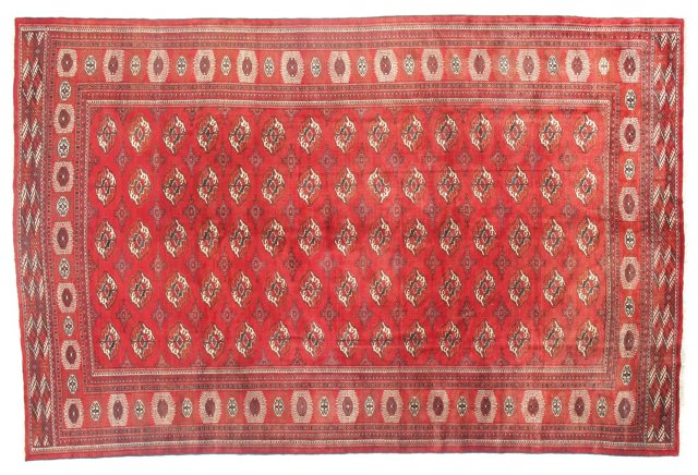 """8'3""""x12'8"""" Persian Rug, Red"""