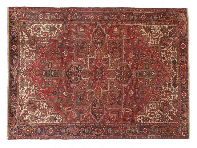 "8'7""x11'9"" Persian Heriz Rug, Red/Multi"