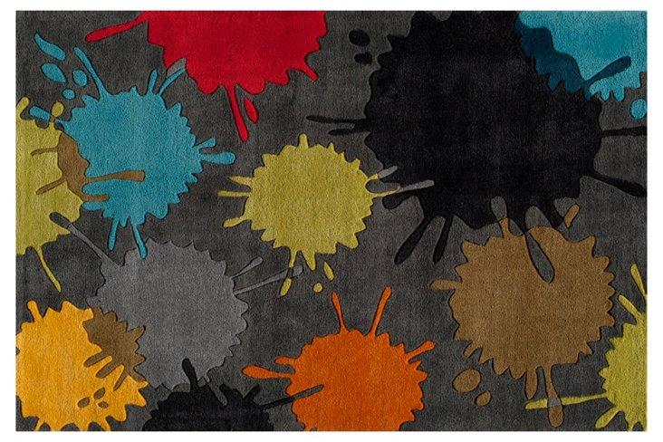 Paintball Rug, Gray