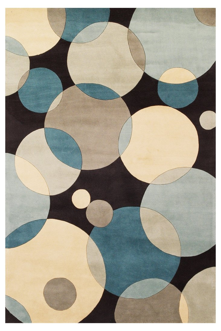 Bubbles Rug, Teal