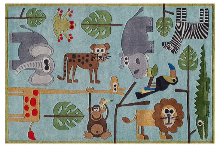 Safari Rug, Blue