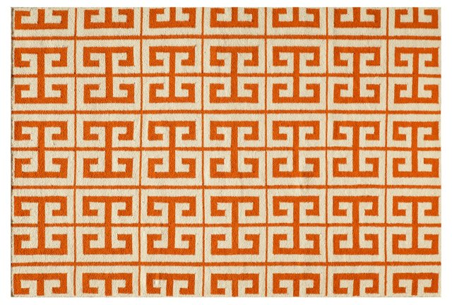 Donna Flat-Weave Rug, Orange