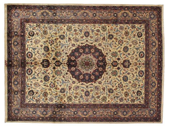 "9'11"" x 13'2"" Persian Rug, Ivory/Multi"