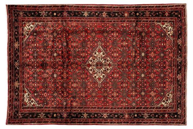 "6'11""x10'4"" Persian Hoseeinabad Rug, Red"