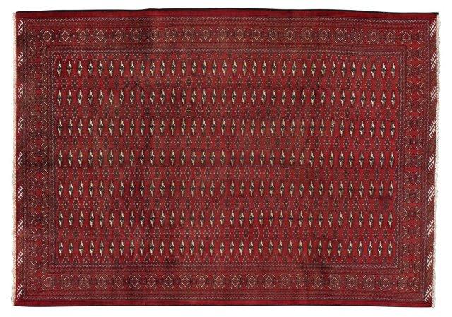"6'8"" x 9'5"" Persian Rug, Red/Brown"