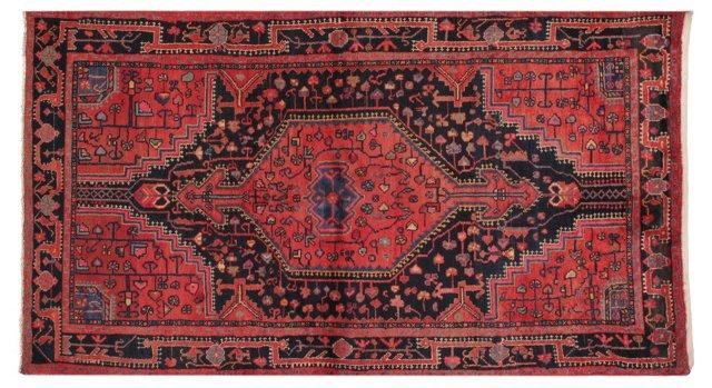 "4'4"" x 7'7"" Persian Rug, Red/Black/Multi"