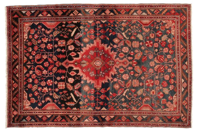 "4'7""x6'11"" Persian Rug, Brown/Orange/Red"