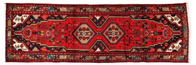 "3'5""x9'8"" Persian Runner, Brown/Red/Blue"
