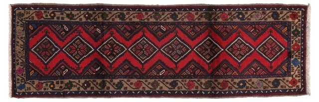 "3'1""x9'9"" Persian Runner, Blue/Red/Multi"