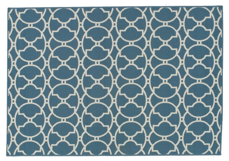 Mpalos Outdoor Rug, Blue