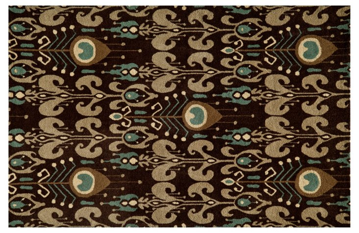 Collette Rug, Chocolate/Multi