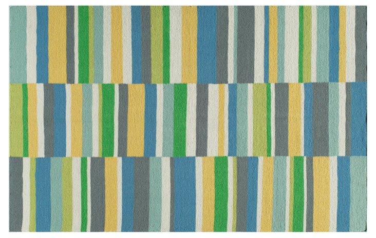 Atlanta Flat-Weave Rug, Blue/Multi