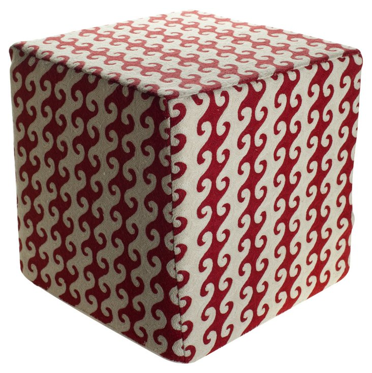 Ava Pouf, Red/White